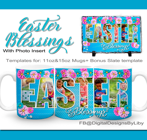 Easter Blessings Mug+Bonus: Slate Templates