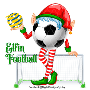 ELFIN FOOTBALL/SOCCER (WordArt Included Separately)