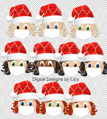 2020 Xmas Extra GIRLS Faces-Custom Order