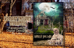 ZOMBIE INVASION Garden Flag Design