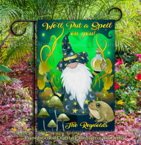 SPELL ON YOU! GNOME Garden Flag Design