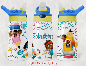 KID'S LOVE TO DRAW Pencil Holder, FLIP TOP Cup & Mug Designs