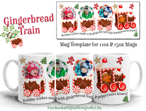 GINGERBREAD HUGS & PEPPERMINT KISSES Mug Design
