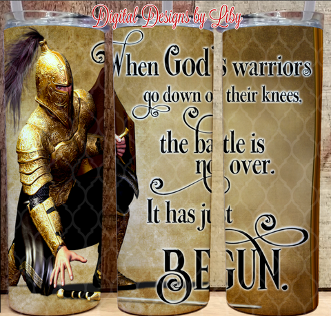 GOD'S WARRIOR 20oz Skinny Tumbler
