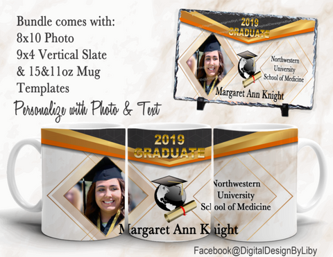 PROUD GRADUATE Template Bundle (Photo, Slate & Mug)