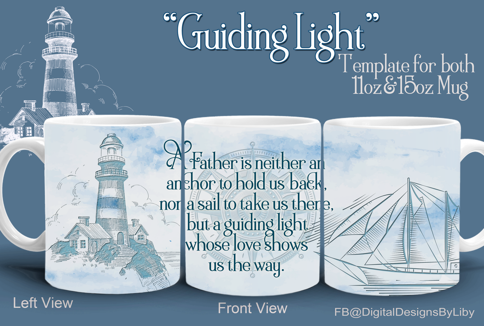 Guiding Light Mug+Slate Templates
