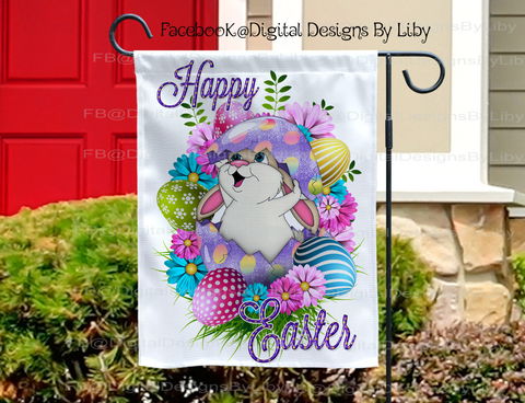 HAPPY EASTER BUNNY (Mug, Towel, Garden Flag & More)