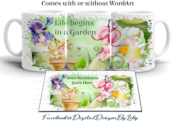 SHARE A GARDEN SET 1 (Mug & Coaster Designs)