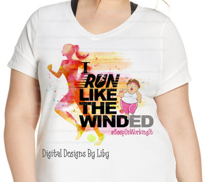 RUN LIKE THE WIND (3 Designs: Light Skin, Dark Skin, Generic)