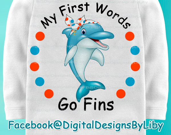 My First Words - GO FINS! (Boys & Girls)