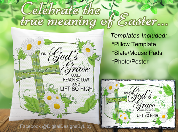 God's Grace Pillow/Slate/Photo Bundle