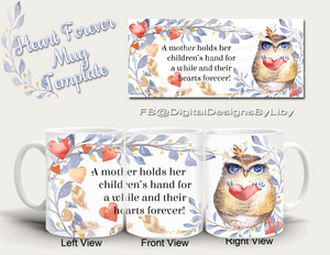 Heart Forever Mother's Mug Template