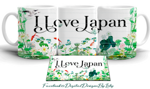 I LOVE JAPAN! Mug Design + Bonus Mockup