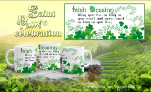 Irish Blessing Mug Template