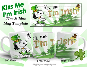 Kiss Me I'm Irish Mug Template