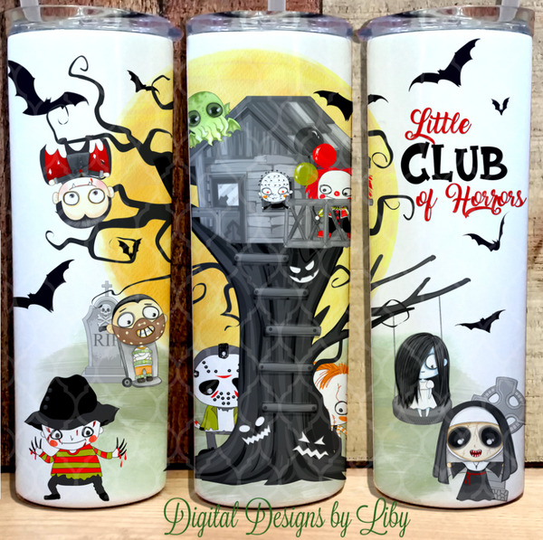 LITTLE CLUB OF HORRORS (Flexible Design~ Templates for 20oz & 30oz)