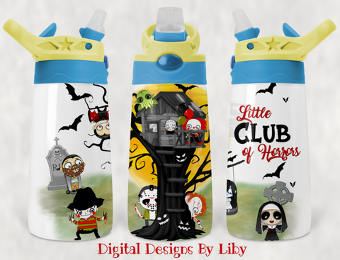 LITTLE CLUB OF HORRORS KIDS Flip Top Tumbler