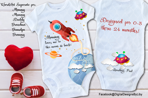 LOVES ME TO THE MOON - FULL BODY ONESIE & TEE DESIGN