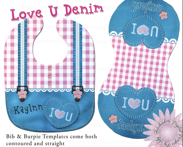 LUV U DENIM  (Bib & Burpie Designs)