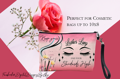 LASHES LONG Cosmetic Bag Design
