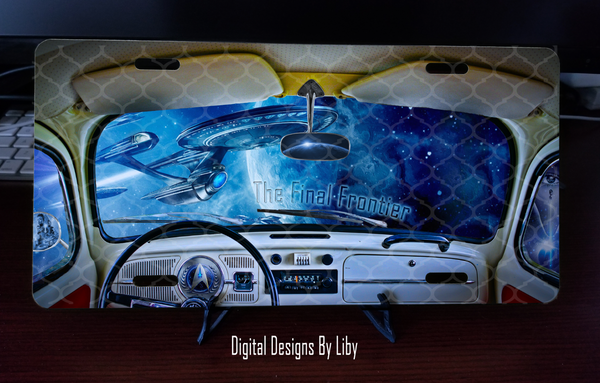 FINAL FRONTIER (Mug, Mouse Pad & License Plate Designs)