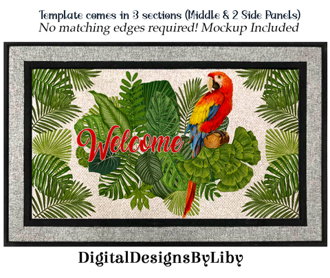 RED MACAW WELCOME MAT