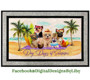 DOG DAYS OF SUMMER (Door Mat Design only)