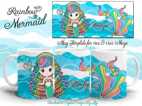 RAINBOW MERMAID Mug (2 Designs)