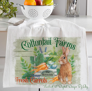 """COTTONTAIL FARMS"" (Mug, Coaster, Pot Holder& Towel Designs)"