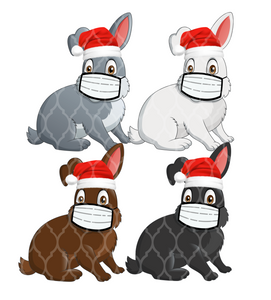 2020 Xmas Extra Faces-Rabbits Custom Order