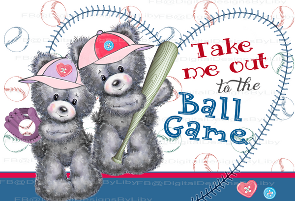 TAKE ME OUT TO THE BALL GAME!  (Pillow case & T-Shirt designs + Bonus Mockups)