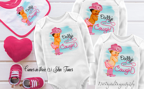 LITTLE PINK COWGIRL (T-Shirt Designs - 3 skin tones)