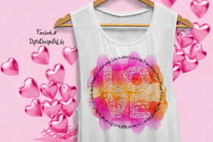 LOVE IS PATIENT, LOVE IS KIND TShirt-Pillow & More (2 Designs)
