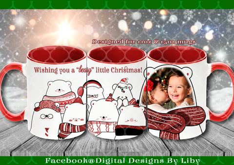 """BEARY"" LITTLE CHRISTMAS (2 Designs)"