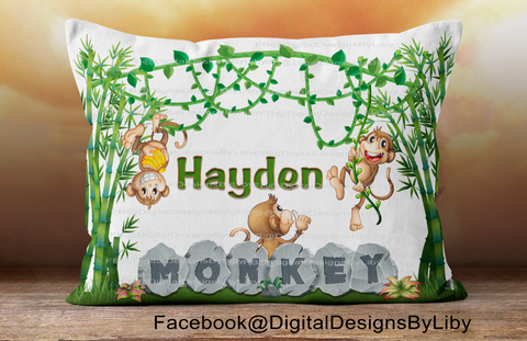 MONKEY BUSINESS!  (Pillow, Onesie & T-Shirt Designs)