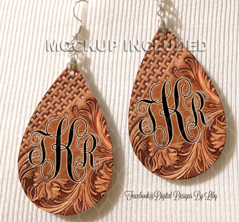 MONOGRAM SWIRL LEATHER (2 Designs)