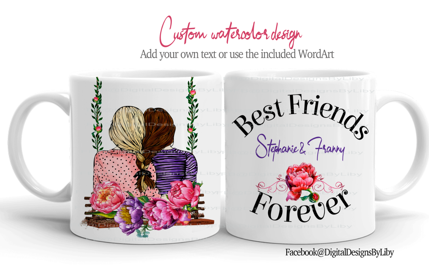 Best Friend Forever BFF + Bonus WordArt (MUG ONLY)