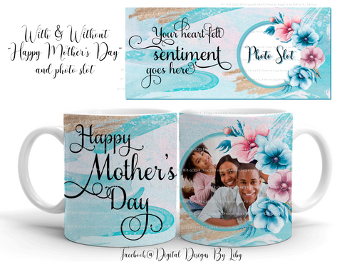 SIMPLY MOM (Mug Design w optional Photo Slot & WordArt)