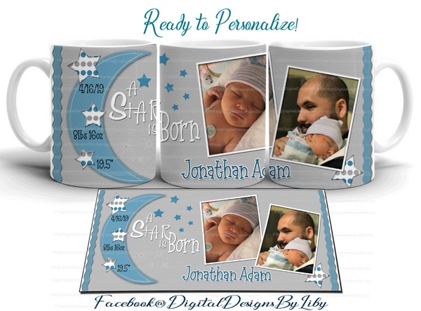 A STAR IS BORN! BABY BOY Announcement Bundle