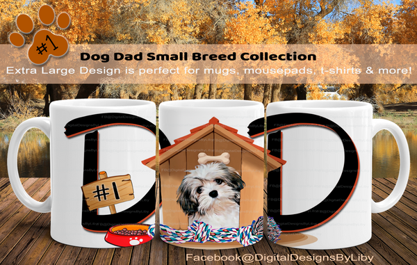 DOG DAD SMALL BREEDS {14 Breeds to choose from}