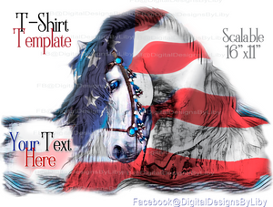 Let Freedom Reign T-Shirt Design (Text is Optional)