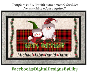 XMAS PLAID (DOOR MAT Design)