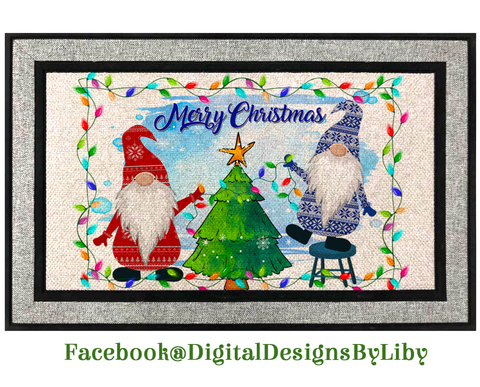 CHRISTMAS LIGHT GNOMES (Mat Design)