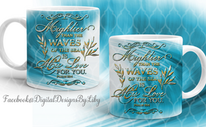 MIGHTIER THAN WAVES Mug Template