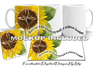 SPIRIT LEAD ME SUNFLOWER (2 Mug & Coaster Designs)