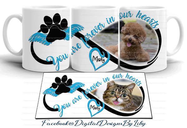 FOREVER IN OUR HEARTS BLUE (Designs for T-Shirt, Mugs & More)
