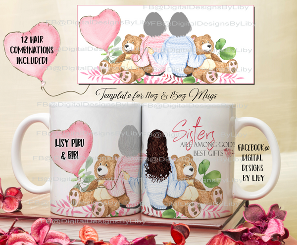 BEARS & BALLOONS MEGA BUNDLE (12 Hair combo, Mug, Pillow & More)