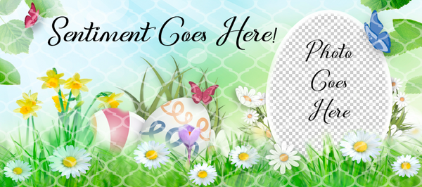 Easter Meadow Mug Template