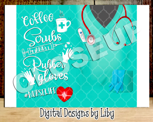NURSE LIFE SKINNY TUMBLER (COFFEE & WINE)