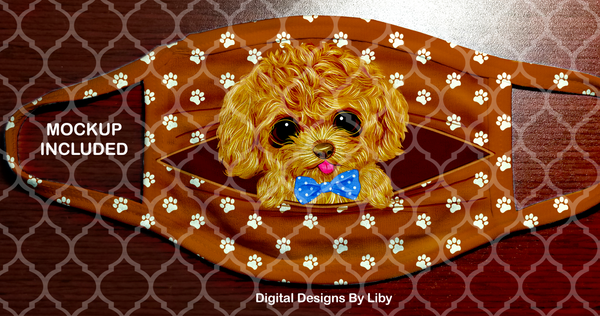 PEEK-A-BOO PETS BOY Poodle (Center & Full Designs)